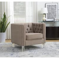 AC Pacific Ariel Collection Modern Style Polyester Fabric Upholstered Living Room Chair