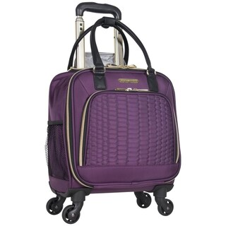 Aimee Kestenberg Florence Collection 16-inch Python Quilted 4-wheel Spinner Womens Underseater Tote Bag / Carry-On Overnighter