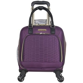 Aimee Kestenberg 16-inch Python Quilted Underseater 4-wheel Spinner Tote Bag/ Carry-On
