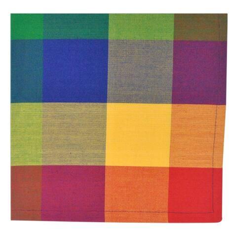 Indian Summer Checkered Napkin ( Set of 6)