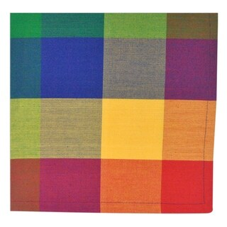 Indian Summer Checkered Napkin ( Set of 6)
