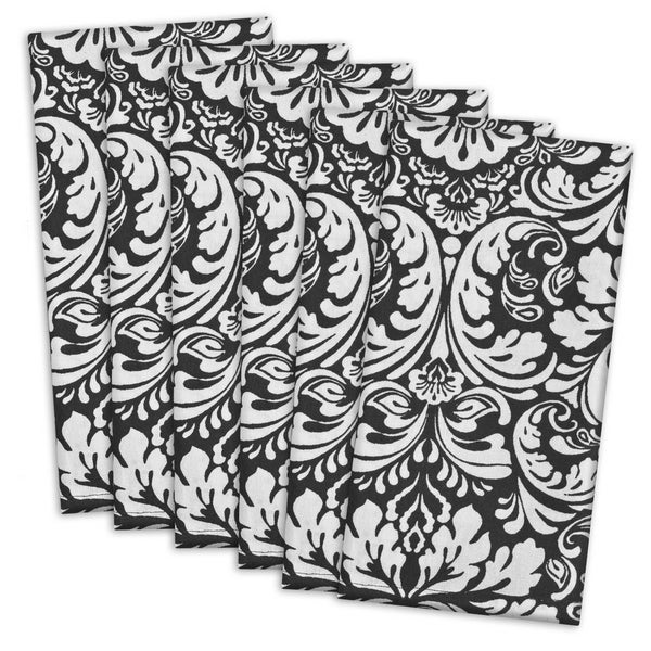 Black Damask Napkin ( Set of 6)
