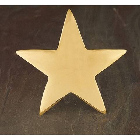 Gold Star Napkin Ring Set of 6