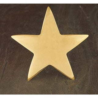 Gold Star Napkin Ring Set of 6