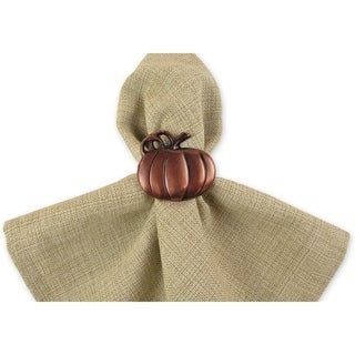 Pumpkin Napkin Ring Set of 6
