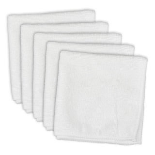 White Terry Microfiber Dishcloth (Set of 5)