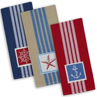 Maritime Embroidered Dishtowel (Set of 6)
