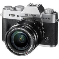 Fujifilm X-T20 Mirrorless Digital Camera with 18-55mm Lens (Silver)