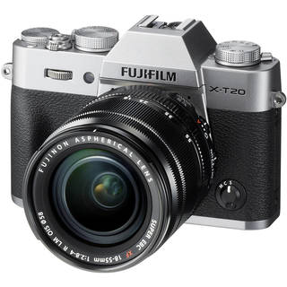 Fujifilm X-T20 Mirrorless Digital Camera with 18-55mm Lens (Silver)