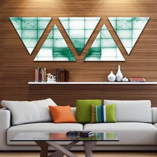 Designart 'Light Blue Bat on Radar Screen' Contemporary Triangle Canvas Art Print - 5 Panels