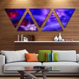 Designart 'Bright Blue Magic Stormy Sky' Contemporary Triangle Canvas Art Print - 5 Panels