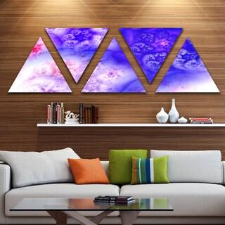 Designart 'Light Blue Magic Stormy Sky' Contemporary Triangle Canvas Art Print - 5 Panels