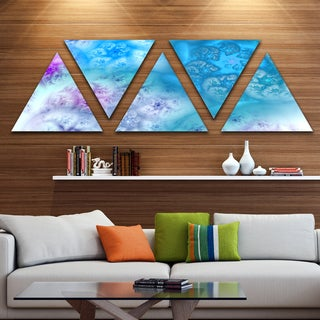 Designart 'Clear Blue Magic Stormy Sky' Contemporary Triangle Canvas Art Print - 5 Panels