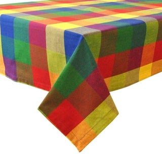 Indian Summer Checkered Tablecloth