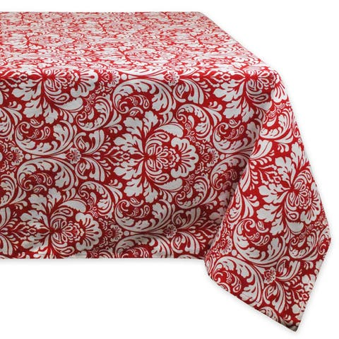 Red Damask Tablecloth