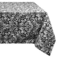 Black Damask Tablecloth