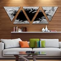 Designart 'Contemporary Broken Wall 3D Design' Contemporary Triangle Canvas Wall Art - 5 Panels