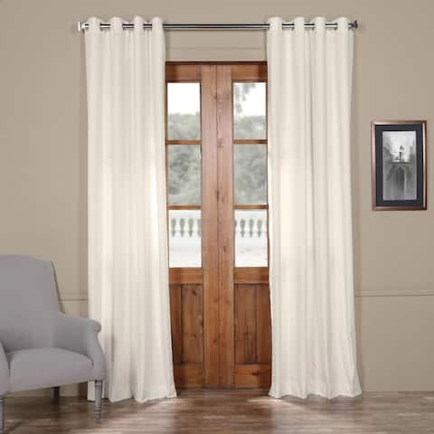 Exclusive Fabrics Solid Cotton Grommet Curtain
