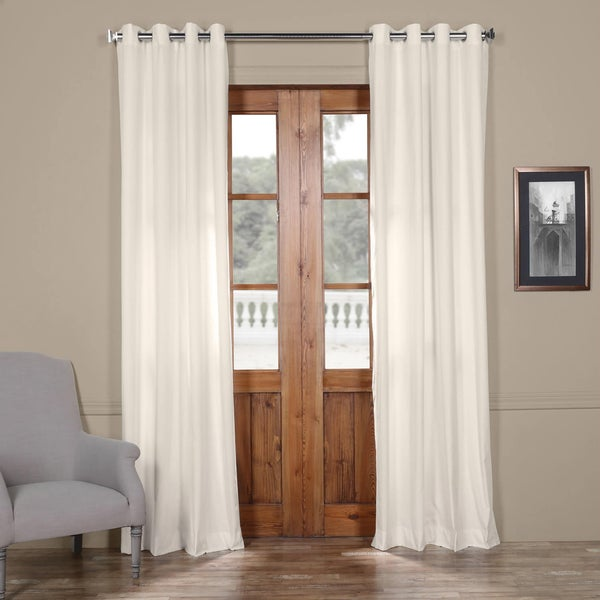Exclusive Fabrics Solid Cotton Grommet Curtain. Opens flyout.