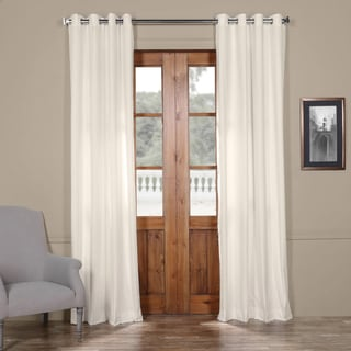 Exclusive Fabrics Solid Cotton Grommet Curtain