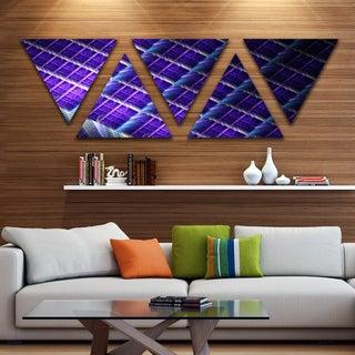 Designart 'Light Purple Metal Grill' Contemporary Art on Triangle Canvas - 5 Panels