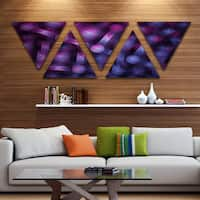Designart 'Crystal Cell Purple Steel Texture' Contemporary Wall Art Triangle Canvas - 5 Panels