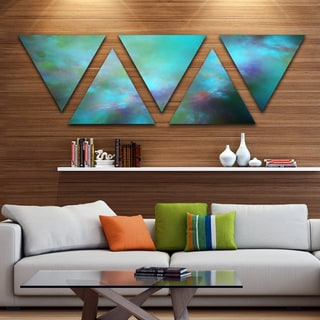 Designart 'Perfect Blue Starry Sky' Contemporary Triangle Canvas Wall Art - 5 Panels