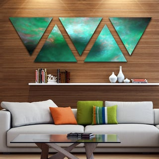 Designart 'Perfect Clear Blue Starry Sky' Contemporary Triangle Canvas Art Print - 5 Panels