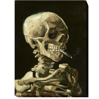 Vincent Van Gogh 'Skull With Burning Cigarette' Gallery-wrapped Canvas Giclee Art