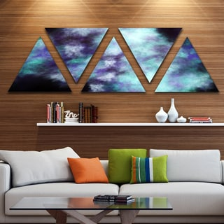 Designart 'Perfect Flowery Starry Sky' Contemporary Triangle Canvas Art Print - 5 Panels