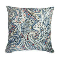 Artisan Pillows 18-inch Indoor/Outdoor Geometric Paisley in Blue Red - Throw Pillow (Set of 2)