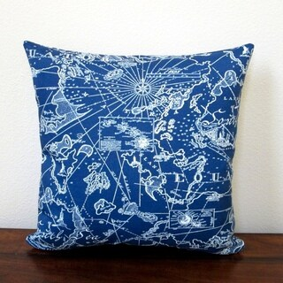 Artisan Pillows 18-inch Indoor/Outdoor Coastal Beach Home South Seas Nautical in Navy Blue - Pillow Cover Only (Set of 2)