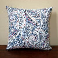 Artisan Pillows 18-inch Indoor/Outdoor Geometric Paisley in Blue Red - Pillow Cover Only (Set of 2)