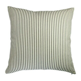 Artisan Pillows Indoor Modern Country Cottage Home French Ticking Stripe in Black - Pillow Cover Only