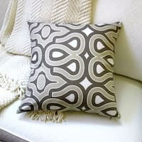 Artisan Pillows Indoor 18-inch Modern Mid-Century Home Turtle Shell Geometric Pattern in Beige/Brown -  Pillow Cover Only