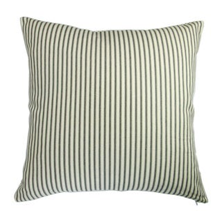Artisan Pillows Indoor Modern Country Cottage Home French Ticking Stripe in Black -  Throw Pillow