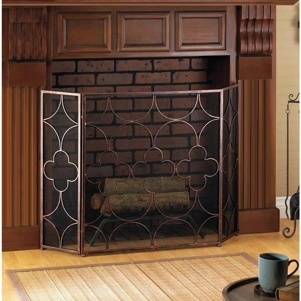 Shop Cedar Artistic 3 Panel Fireplace Screen On Sale Free