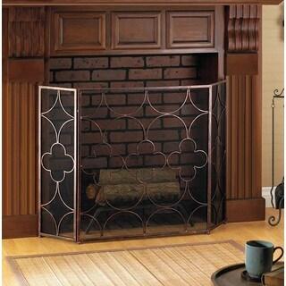 Cedar Artistic 3-Panel Fireplace Screen
