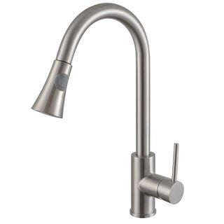 Y-Decor Single Handle Pull-down Kitchen Faucet in Brushed Nickel