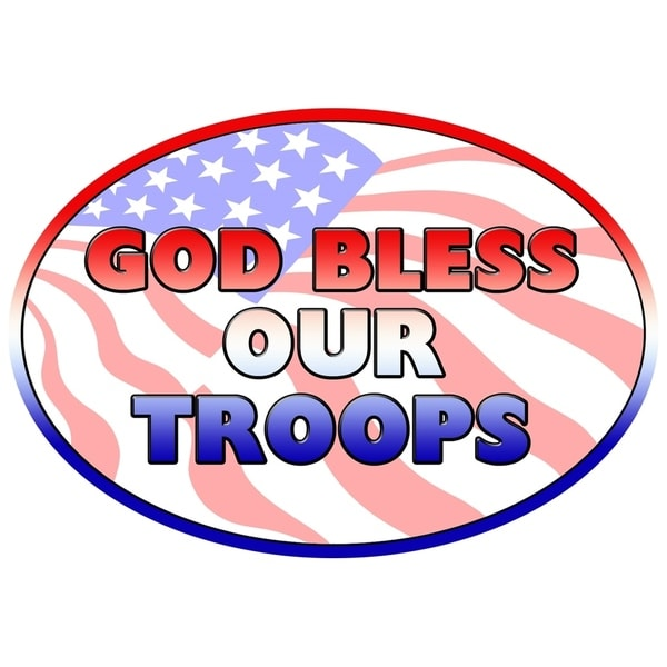 God Bless Our Troops Magnet For Car or Home