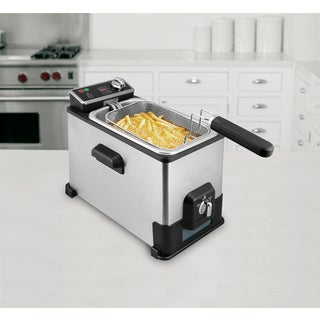 Emeril Stainless steel 4.0L/17-cup Digital Deep Fryer with Oil filtration System and 3-basket system