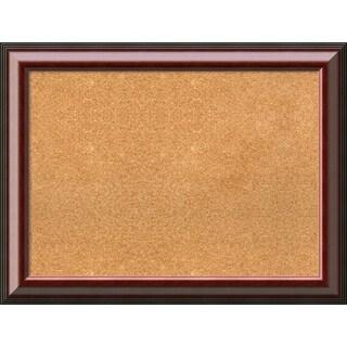 Framed Cork Board, Cambridge Mahogany