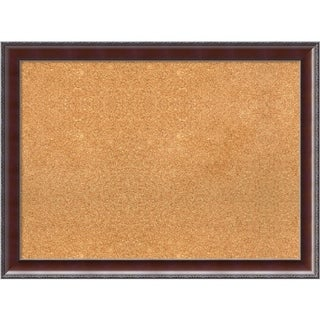 Framed Cork Board, Country Walnut