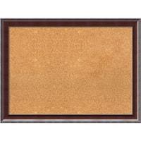 Framed Cork Board, Country Walnut