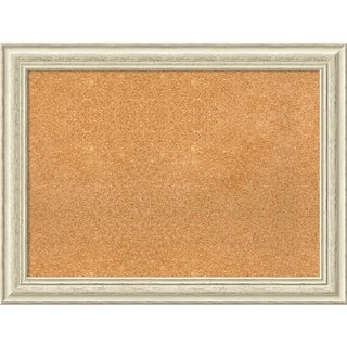 Framed Cork Board, Country White Wash