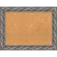Framed Cork Board, Silver Luxor