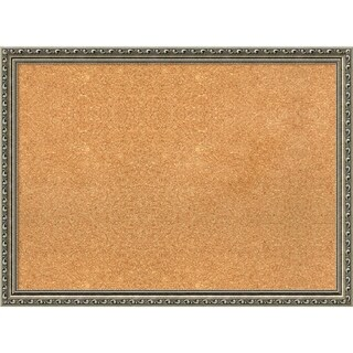 Framed Cork Board, Parisian Silver