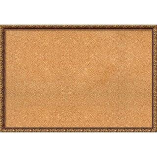 Framed Cork Board, Antique Bronze