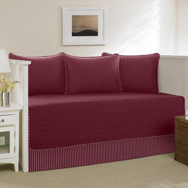 Shop Nautica Red Maywood 5 Piece Daybed Cover Set On