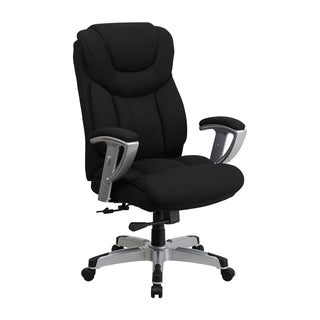 Offex Hercules Series [OF-GO-1534-BK-FAB-GG] Big and Tall Black Fabric Office Chair with Arms